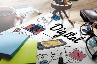 Digital Gadget Innovation Concept