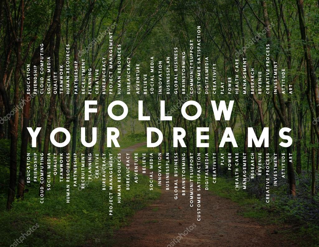 Imágenes Bosques Con Frases Seguir La Frase De Tus Sueños Foto