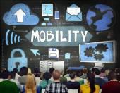 Fotografie Lidé na seminář a koncepce Mobility