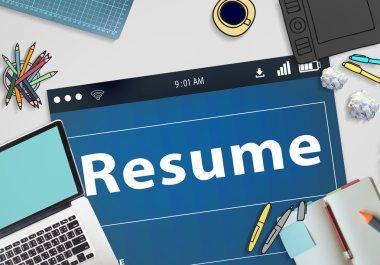 Resume CV Recruitment Concept