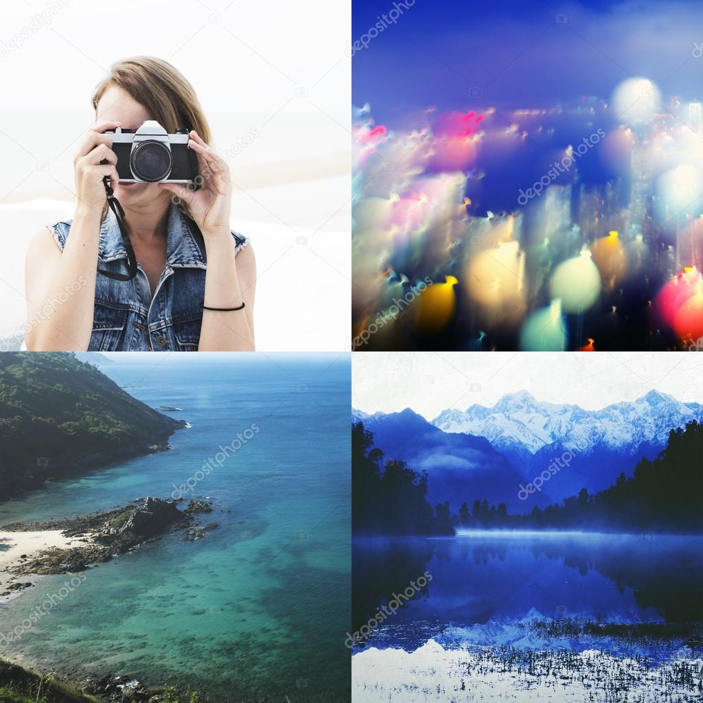collage of beautiful nature photos