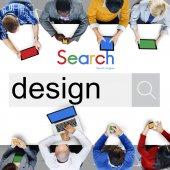 Geschäftsleute und kreative Design-Konzept