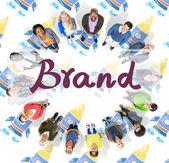Fotografia Uomini daffari e Brand, concetto di marchio