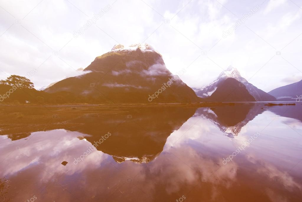 Tranquil lake in the mountains