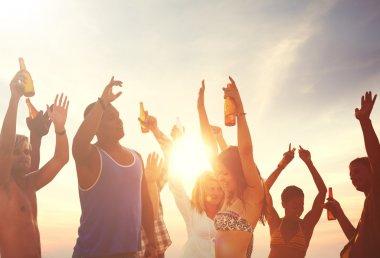 friends on Summer Beach party