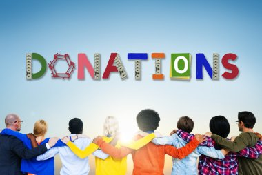 Multiethnic People and Donate Concept