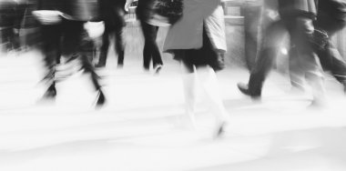 Woman Rushing In a City