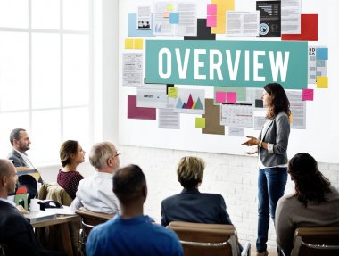 Business People and Overview, Inspection Concept