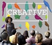 people at seminar with creative
