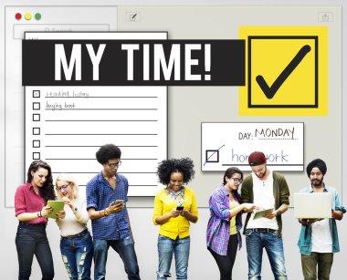 diversity group of people using digital devises