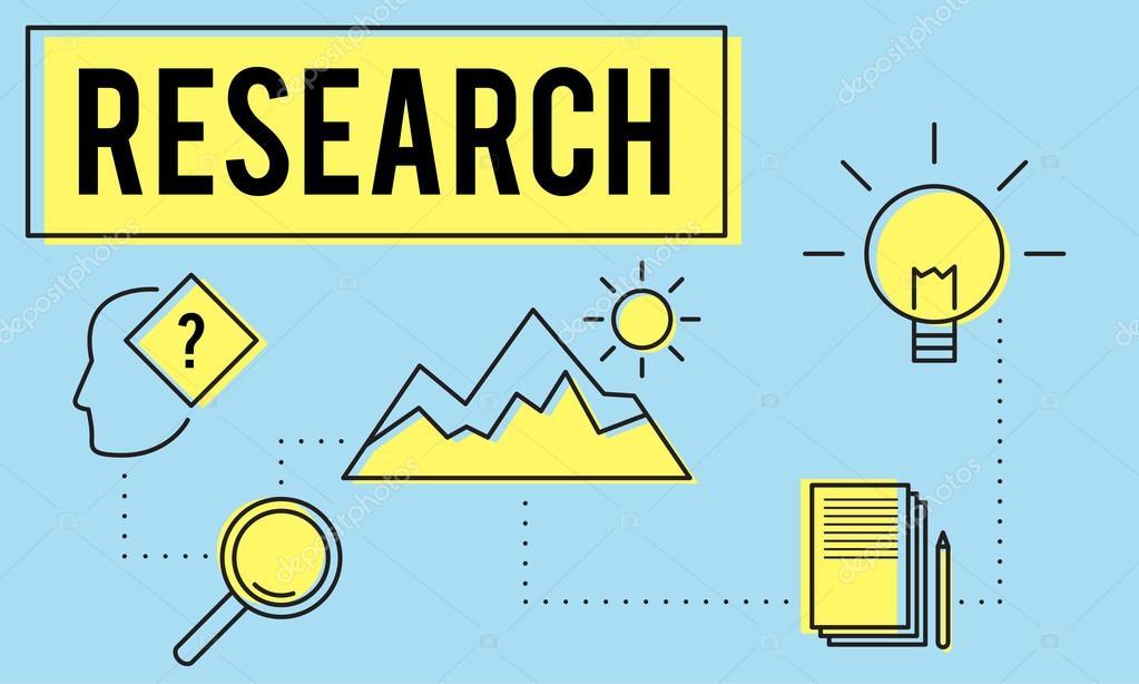 plantilla con el concepto de investigación — Foto de stock ...