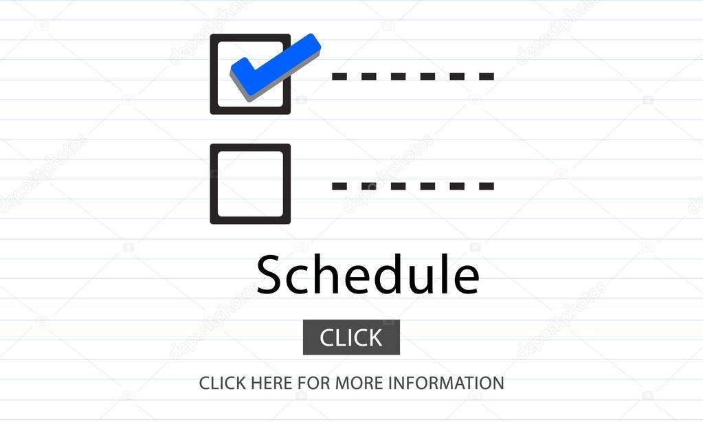 Vorlage mit Zeitplan Konzept — Stockfoto © Rawpixel #113228744