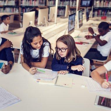 children having lesson together