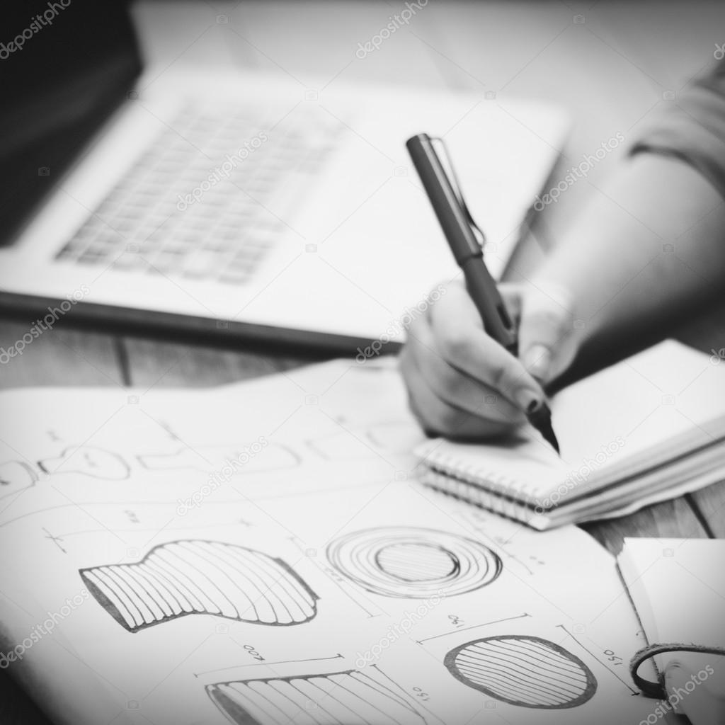 Zeichnung Ideen Modell Handwerker Konzept U2014 Foto Von Rawpixel