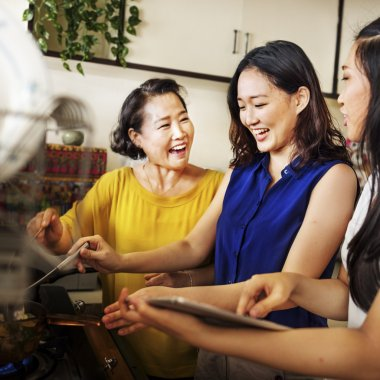 Beautiful Asian family