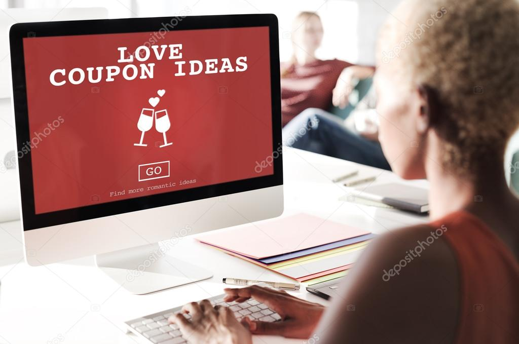 Woman Looking For Love Coupon Ideas — Stock Photo © Rawpixel #113519662