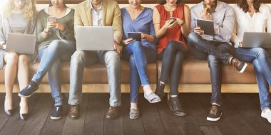 Diversity People with digital devices