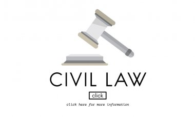 template with Civil Law concept