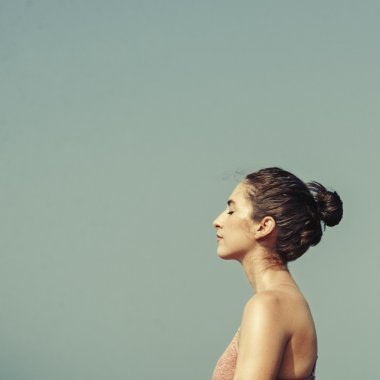Profile of beautiful Young woman