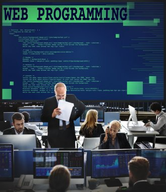 Business workers and web programming