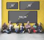 Fényképek sokszínűség meg fal képernyőfelbontás mellett