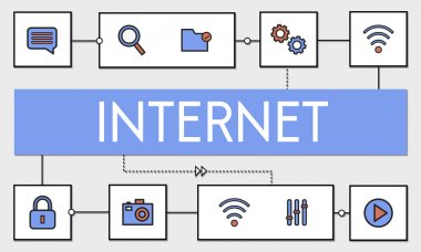 Network Connection and Internet Concept