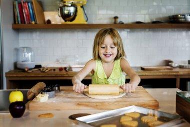 Girl making Cookies