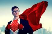 Fotografia Uomo daffari forte supereroe