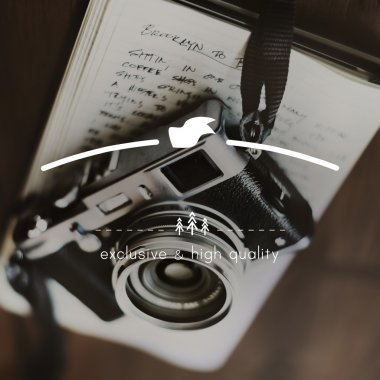 vintage camera and diary