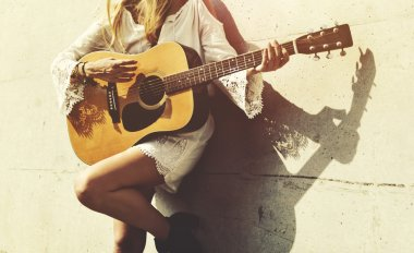 Beauty Girl with Guitar