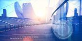 Obchodní čtvrti a technologický koncept