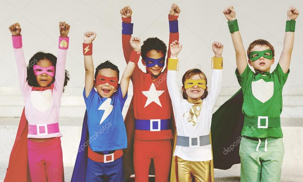 Kids in Superhero costumes u2014 Stock Photo  sc 1 st  Depositphotos & Kids in Superhero costumes u2014 Stock Photo © Rawpixel #116760886