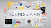 podnikatelský plán na zdi