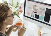 Fotografie Frau online-shopping
