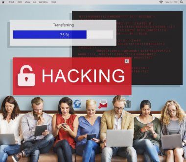 Business People and Hacking Concept