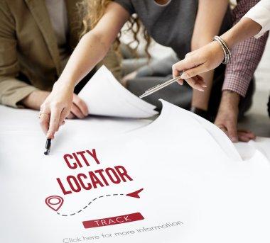 designers working with city locator