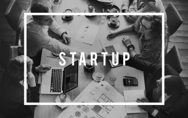 business of people with handshake and Startup