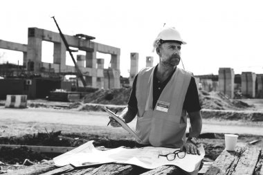 Construction Worker in building site