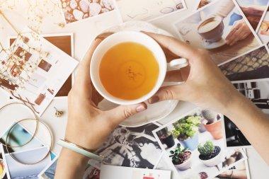 tea cup in hands