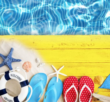 swimming pool and summer collection