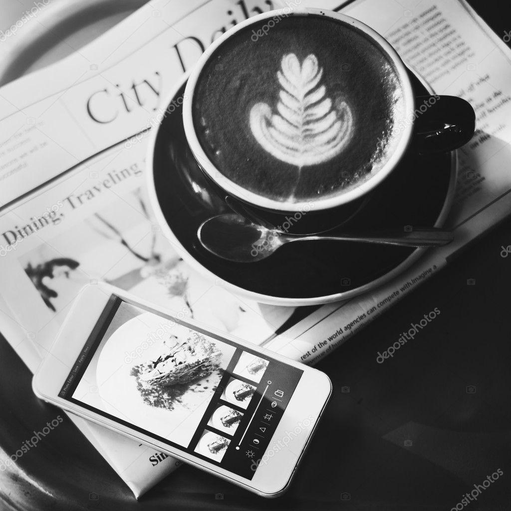 Coffee Shop Cafe Latte Concept Stock Photo C Rawpixel 120319130