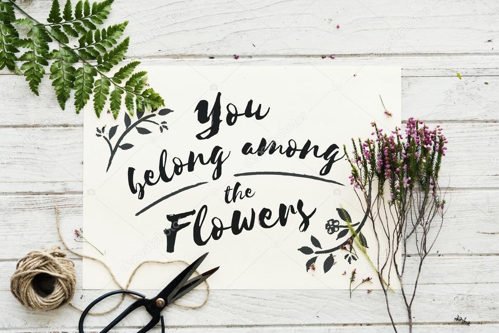 Flower Nature Sign  Concept
