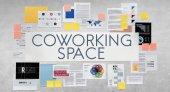 Co pracovní prostor na bílé zdi
