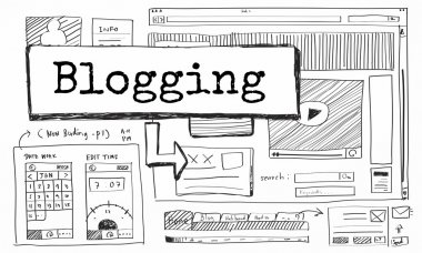 Graphic Text and Blogging Concept