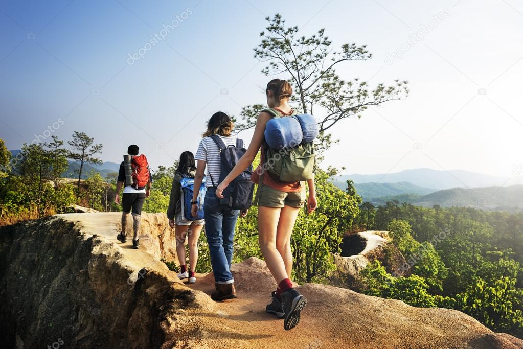 People walking in nature