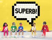 Fotografie Glücklich Cherful Superheld Kinder