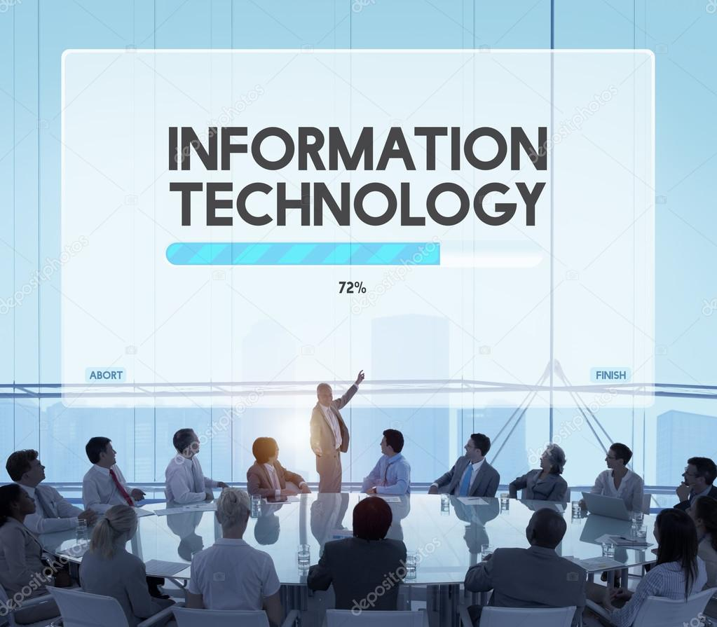 Business Technology: Business People And Information Technology Concept