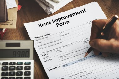 piece of paper with Home Improvement Form