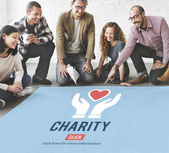 Designers working with poster and Charity