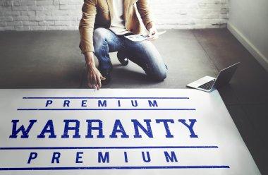 businessman working with Warranty